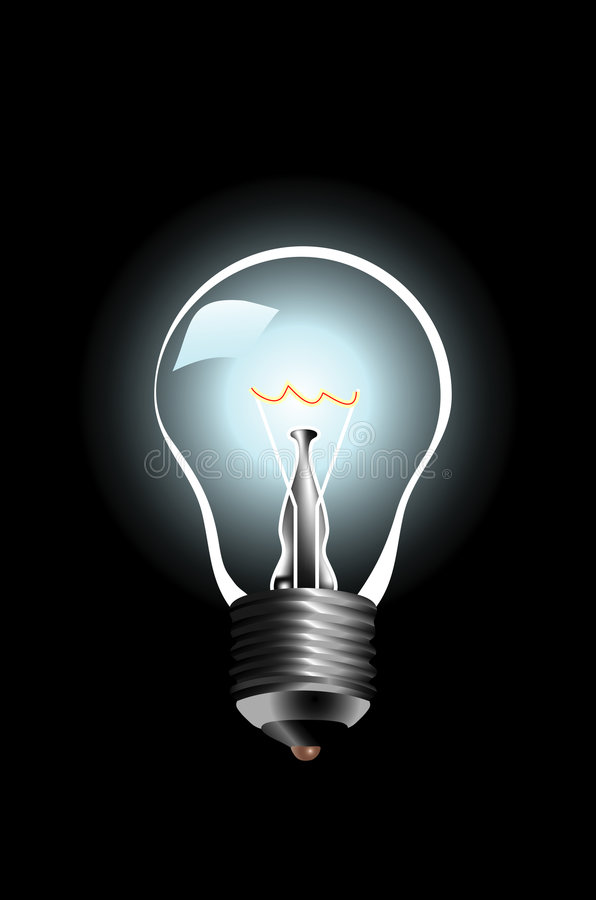 bulblamp61207 royaltyfri illustrationer