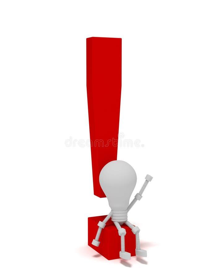 Download Bulbo ilustração stock. Ilustração de símbolo, exclamation - 12803409