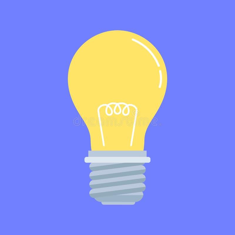 Bulbo Ampola de poupança de energia elétrica Projeto liso Ilustração conservada em estoque do vetor ilustração do vetor