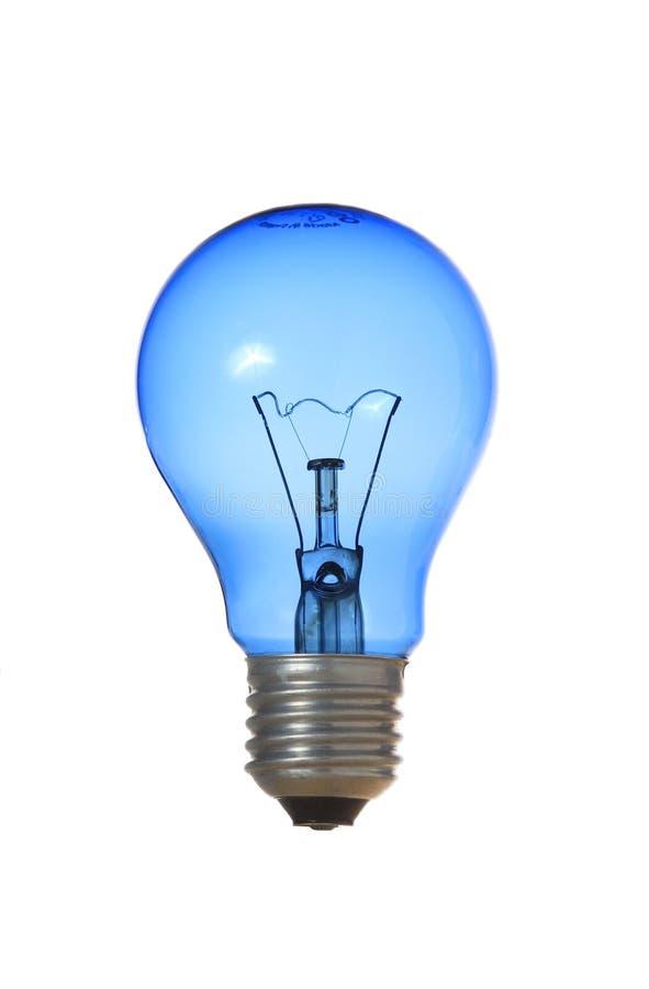 Bulbo azul imagens de stock