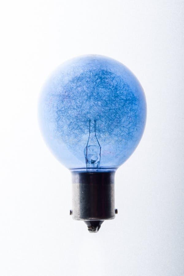 Bulbo azul da ideia imagem de stock royalty free
