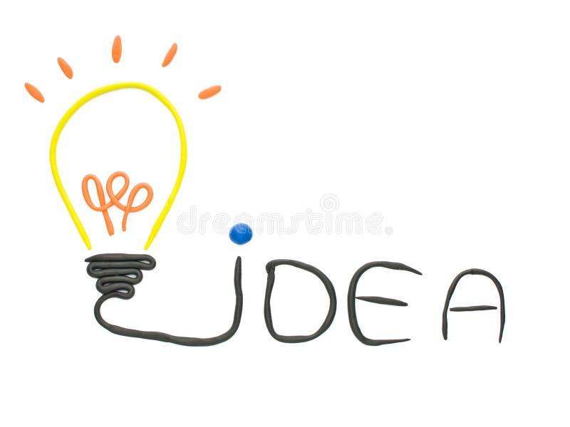 Bulbo da idéia feito do plasticine isolado ilustração royalty free