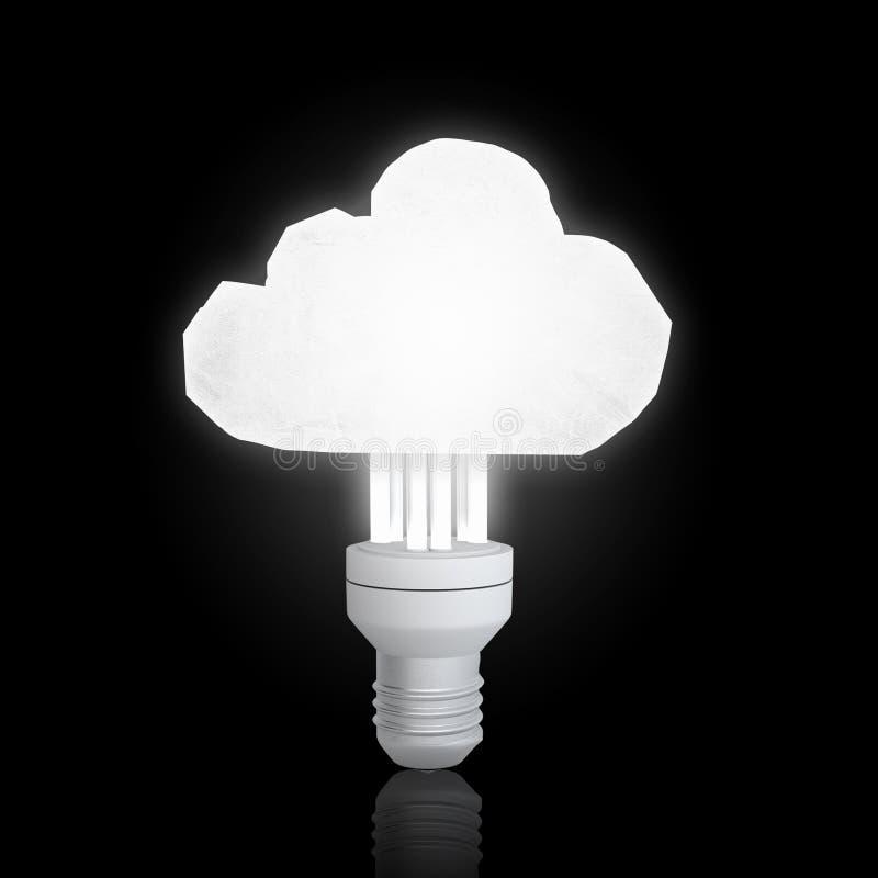 Bulbo da nuvem na escuridão imagens de stock