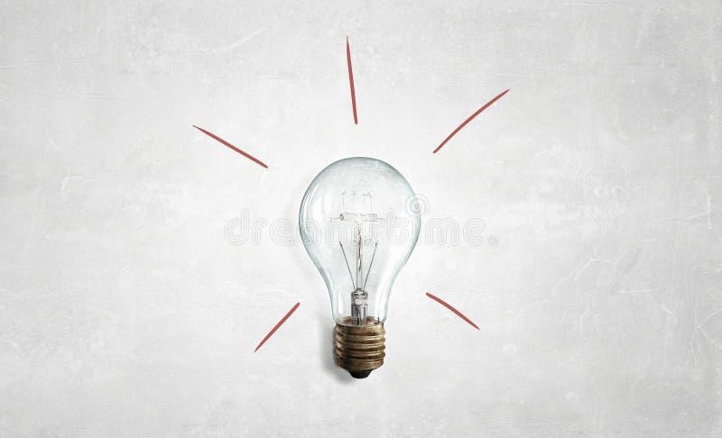 Bulbo de cristal eléctrico imagenes de archivo