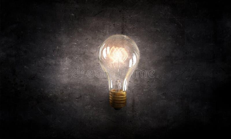 Bulbo de cristal eléctrico fotografía de archivo