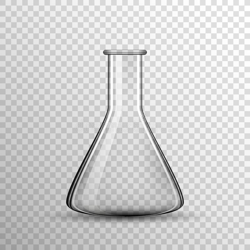 Bulbo de cristal químico transparente, frasco del vector libre illustration