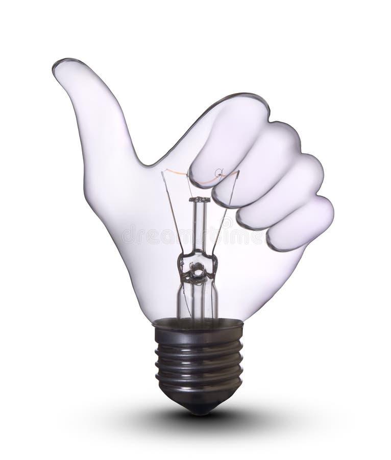 Bulbo de lámpara aceptable de mano imagen de archivo libre de regalías