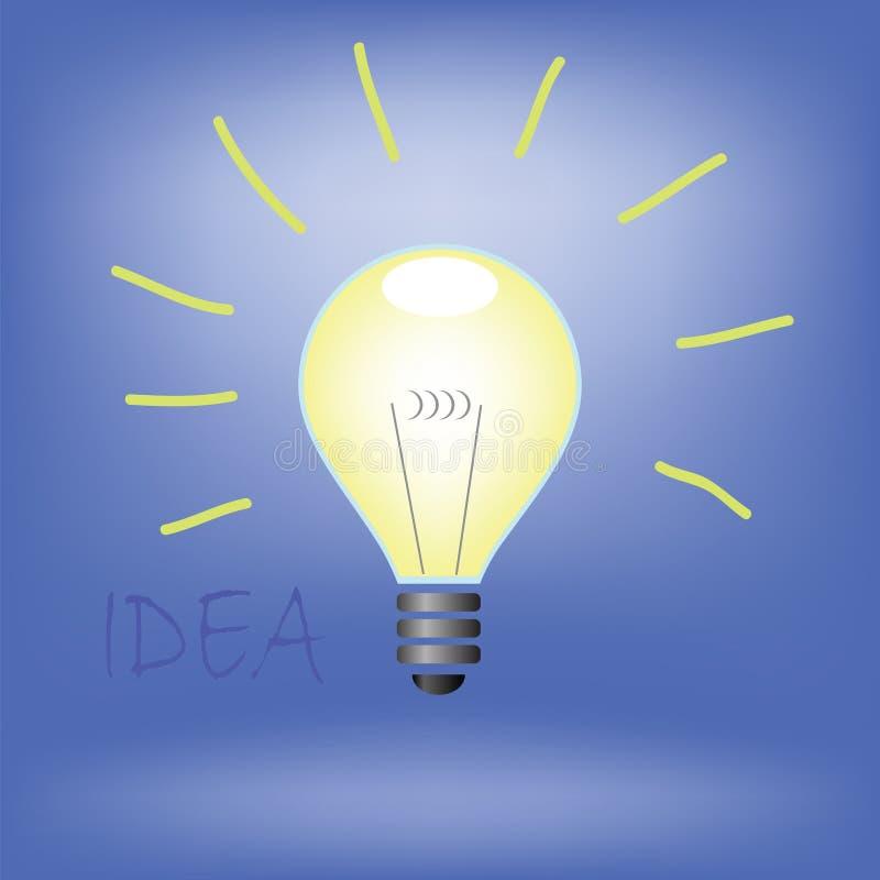 Bulbo de la idea ilustración del vector