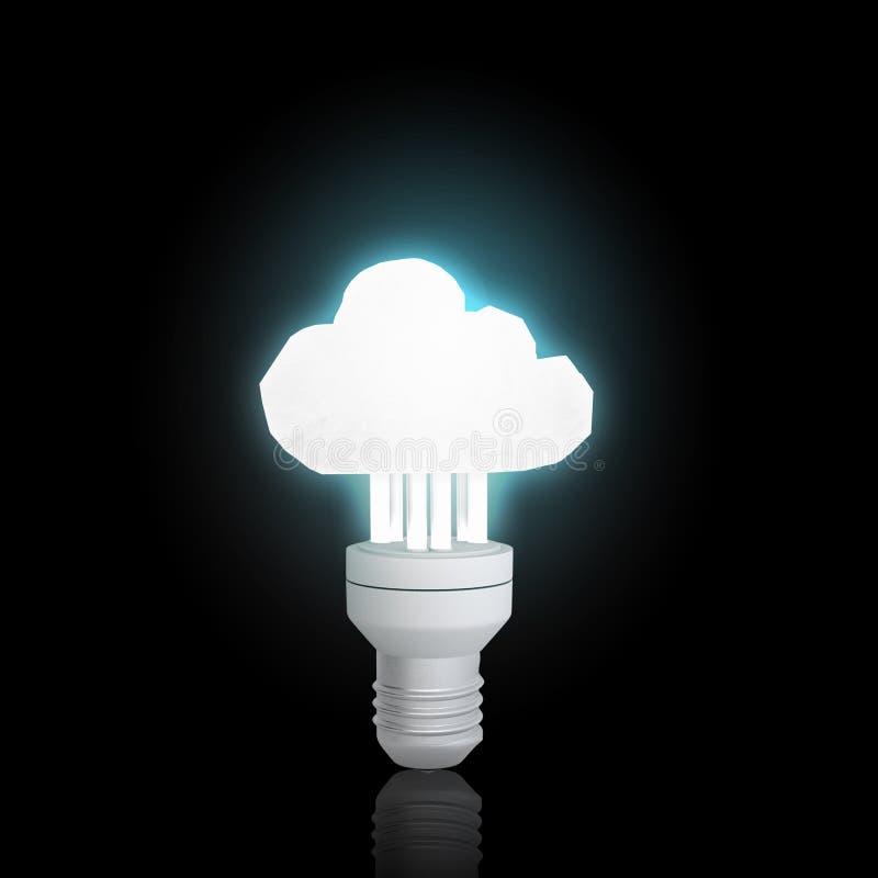 Bulbo de la luz eléctrica fotografía de archivo