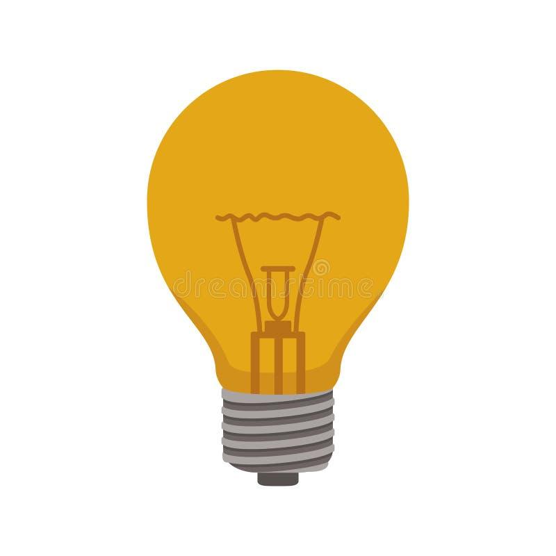 Bulbo de Ligth bonde com tampões e filamentos ilustração stock