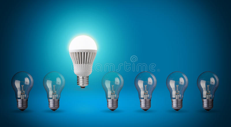 Bulbo do diodo emissor de luz foto de stock royalty free