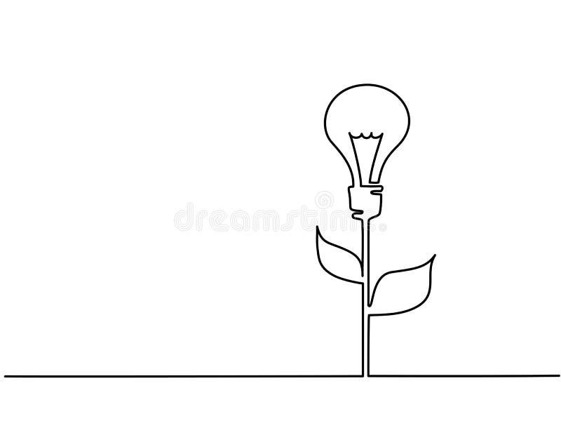 Bulbo eclético com folhas ilustração stock