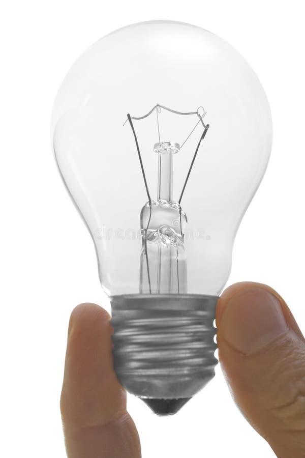 Bulbo elétrico à disposicão imagem de stock