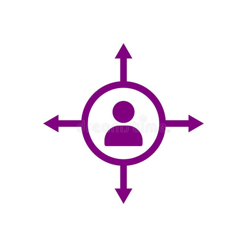 Bulbo, luz, luz del negocio, idea, equipo, icono púrpura del color de la idea creativa del negocio libre illustration