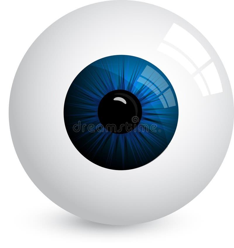 Bulbo oculare illustrazione vettoriale