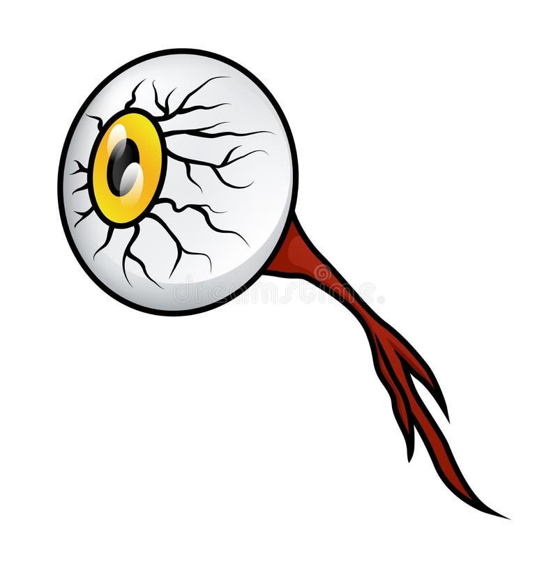 Bulbo oculare lordo illustrazione vettoriale