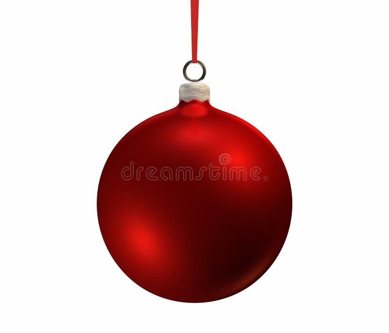 Bulbo rojo de la Navidad ilustración del vector