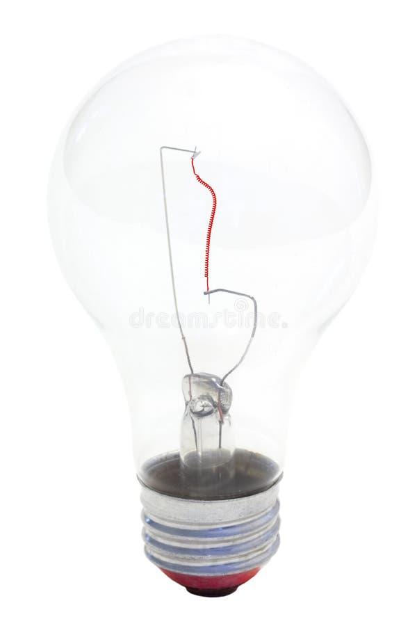 Bulbo rojo del filamento foto de archivo libre de regalías