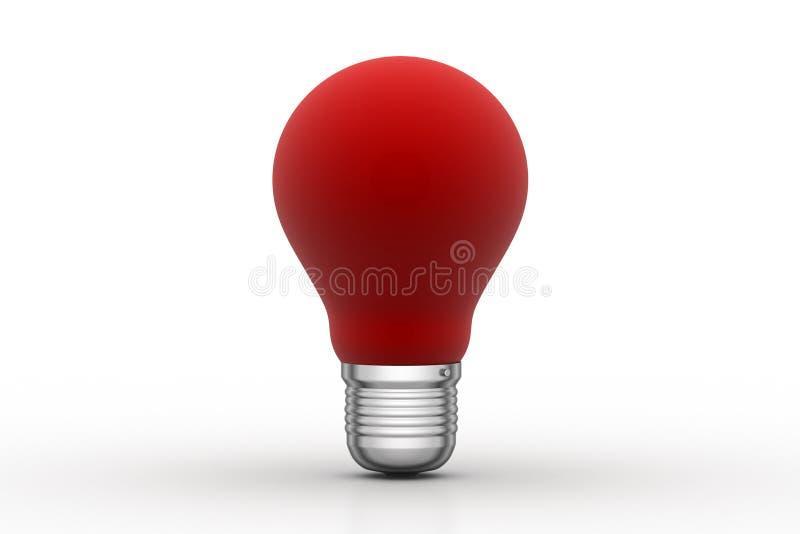 Bulbo rojo, nuevo concepto de la idea libre illustration