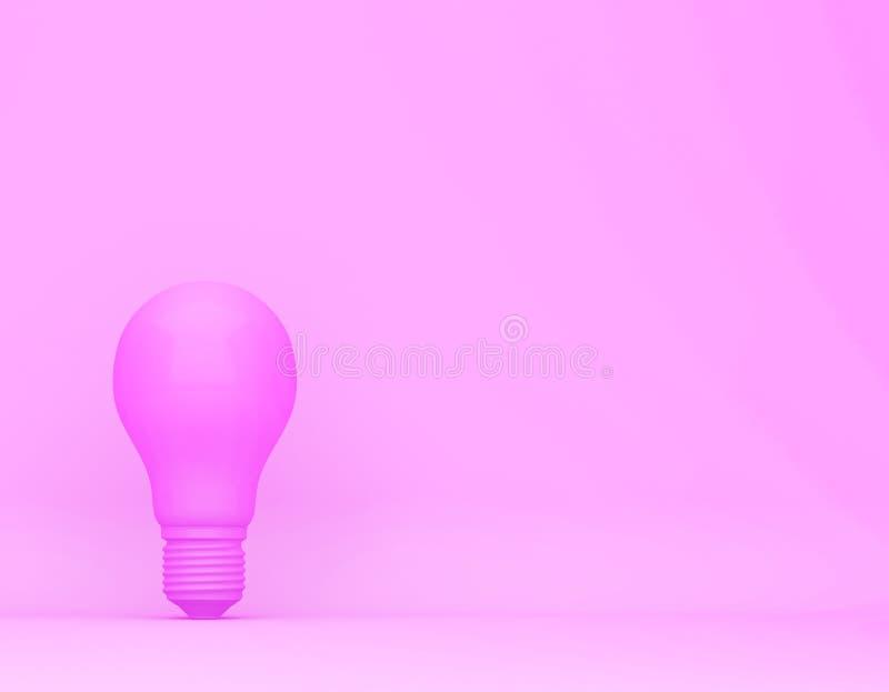 Bulbo rosado en fondo en colores pastel rosado concepto creativo m?nimo fotografía de archivo