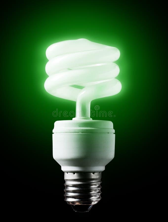 Bulbo verde económico de energía. fotos de archivo