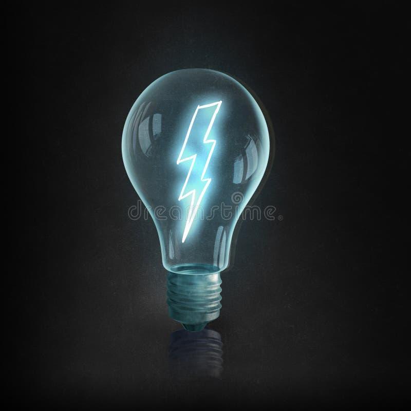 Bulbo y líneas eléctricas eléctricos de Eco imágenes de archivo libres de regalías
