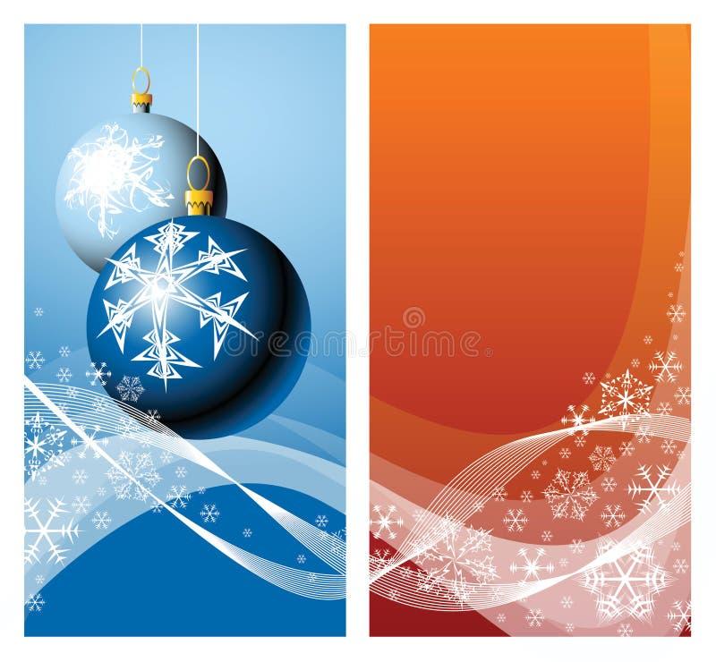 Bulbos & flocos de neve do Natal ilustração do vetor