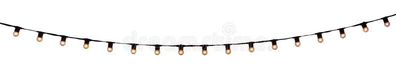 Bulbos atados con alambre secuencia en blanco fotografía de archivo libre de regalías