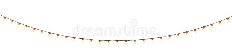 Bulbos atados con alambre secuencia en blanco fotos de archivo
