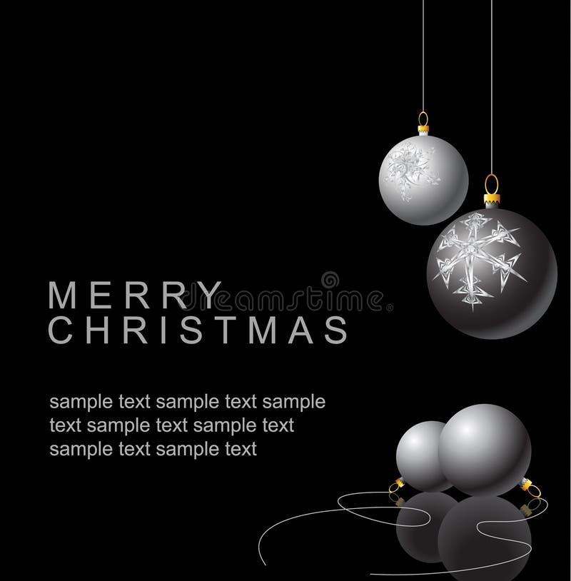 Bulbos blancos y negros de la Navidad stock de ilustración