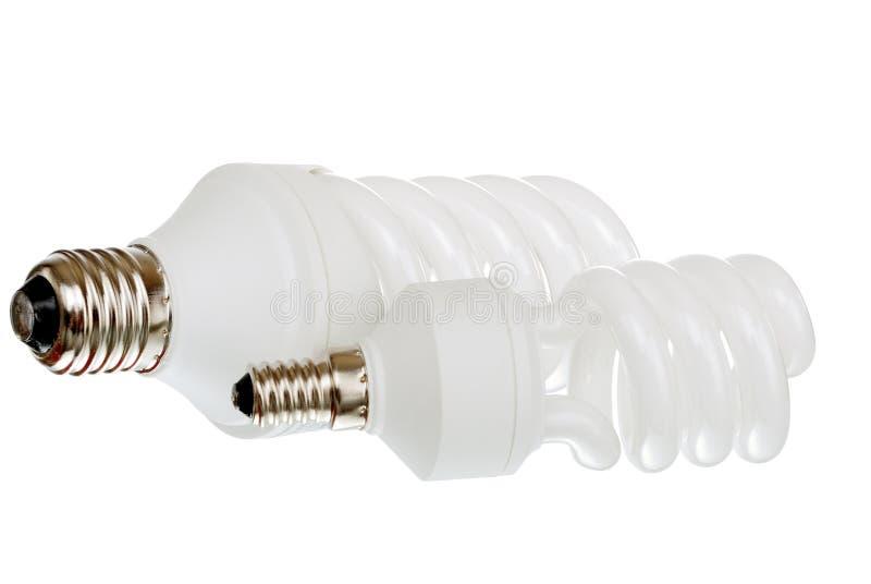 Bulbos fluorescentes da luz do dia imagem de stock