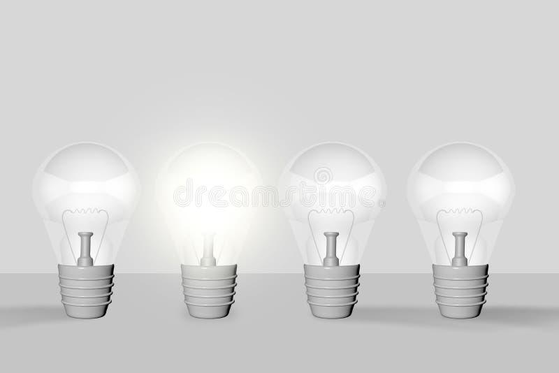 Bulbos, idea ilustración del vector