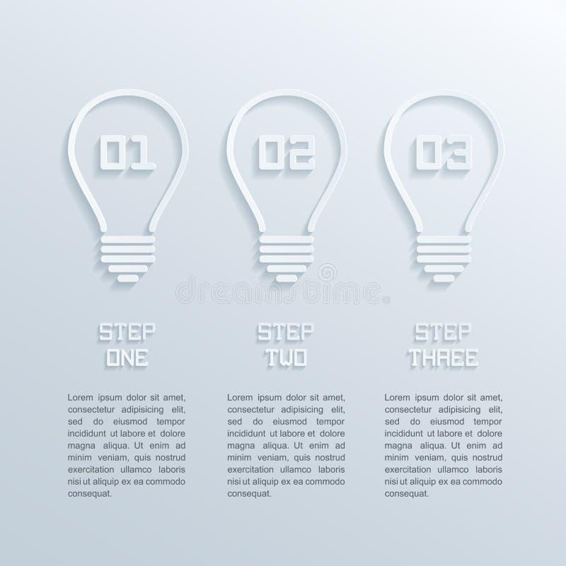 Bulbos infographic ilustración del vector