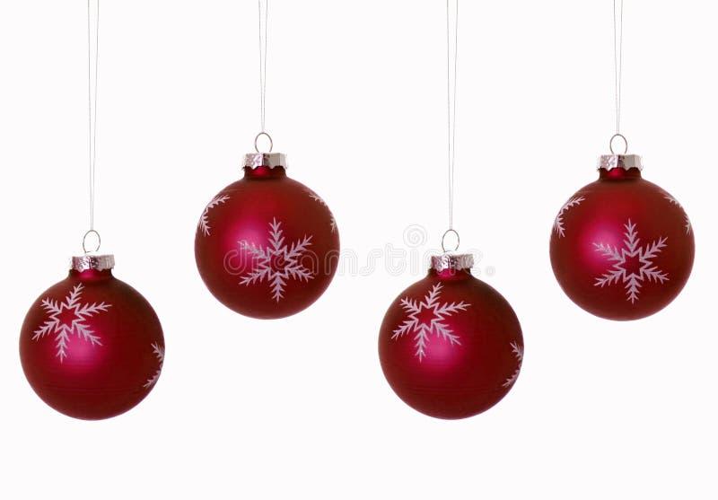 Bulbos rojos de la Navidad imagen de archivo
