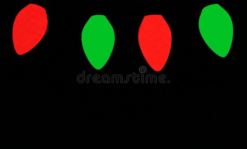 Bulbos rojos y verdes de la Navidad fotos de archivo libres de regalías