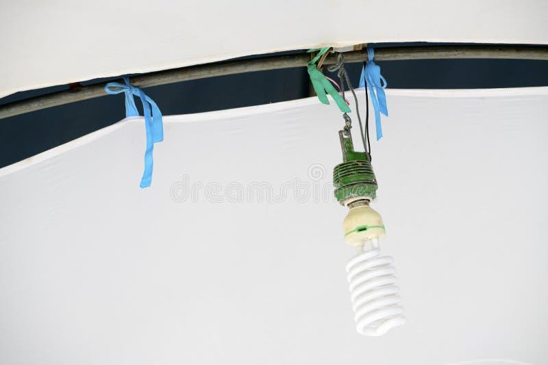 Bulbos velhos de suspensão imagens de stock royalty free