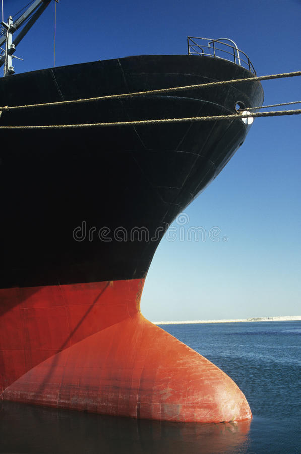 Free Bulbous Bow Of Stationary Ship Stock Images - 30845934