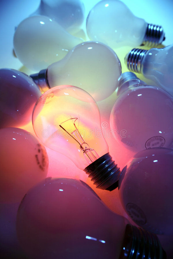 Free Bulbs Background Royalty Free Stock Image - 5394356