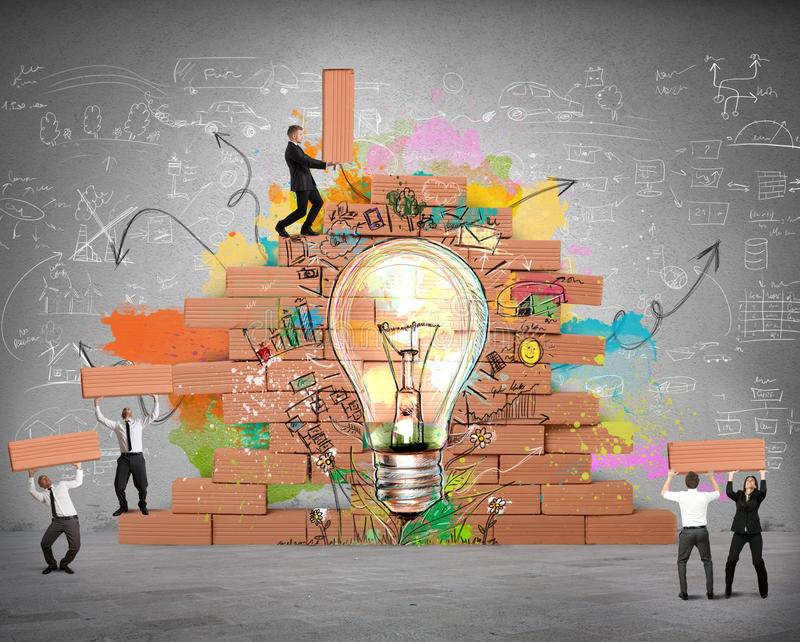 Bulding一个新的创造性的想法 向量例证