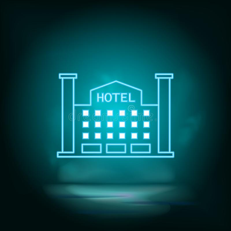 blue hotel key card from the room icon isolated seamless