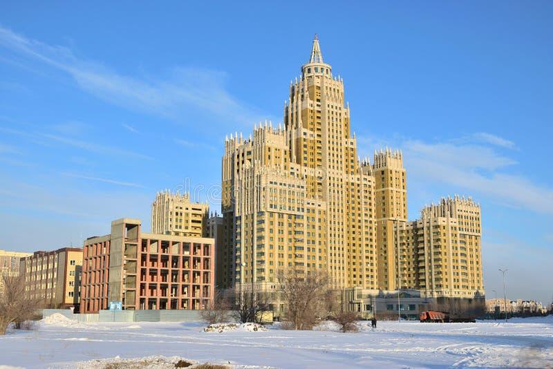 Bulding residencial moderno em Astana imagens de stock royalty free