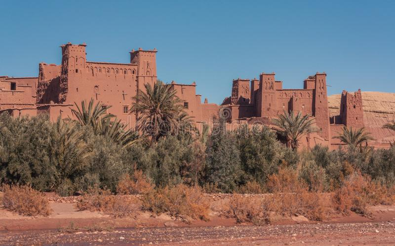 Buldings de vue d'Ait Ben Haddou photo stock