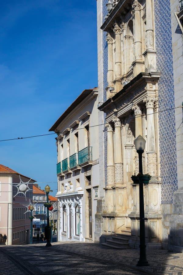 Buldings miasto Aveiro, Portugalia zdjęcia stock