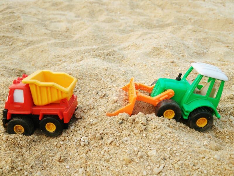 Buldożer zabawka zdjęcia stock