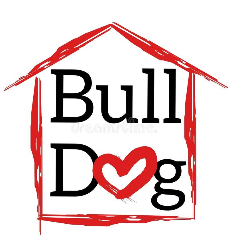 Buldoga logo zdjęcia royalty free