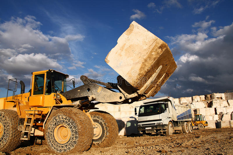 Download Buldozer in quarry stock image. Image of heavy, cooper - 17047453