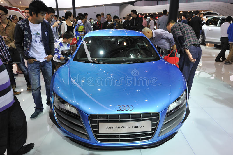 Bule audi r8 china edition front