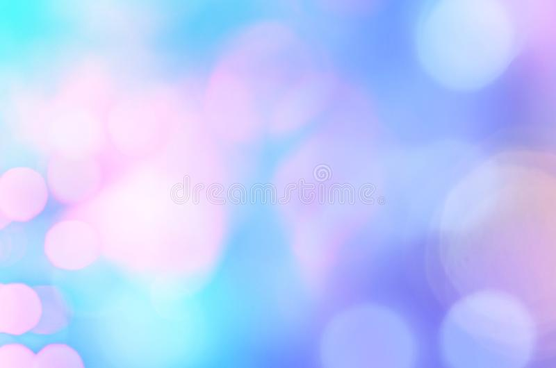 Blue bokeh wallpaper. Colorful bokeh wallpaper and background royalty free stock photography