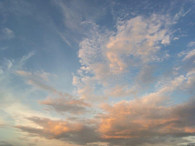 Bule sky. And sunset natural b background stock photos