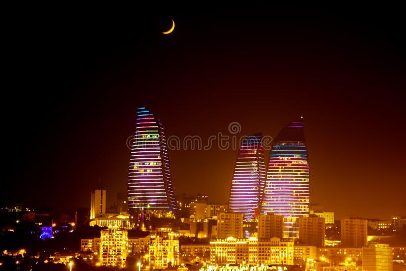 Bulevar da cidade de Baku fotografia de stock